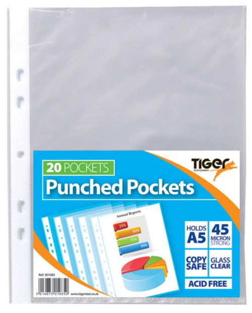 Tiger A5 Punched Pockets PK20