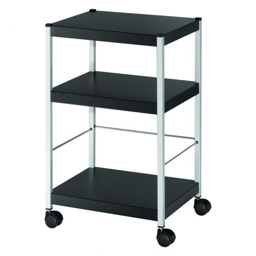 Fast Paper Mobile 3 Shelf Trolley Small
