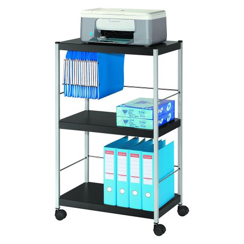 Fast Paper Mobile 3 Shelf Trolley Large