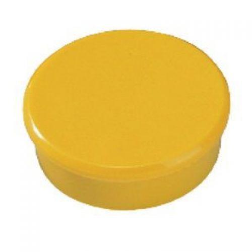 Bi-Office Round Magnets 10mm Yellow PK10