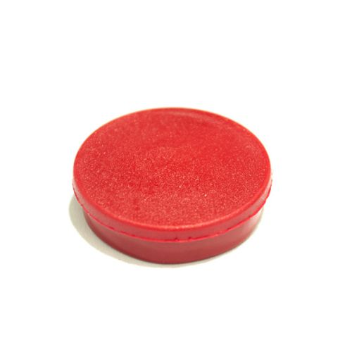 Bi-Office Round Magnets 10mm Red PK10