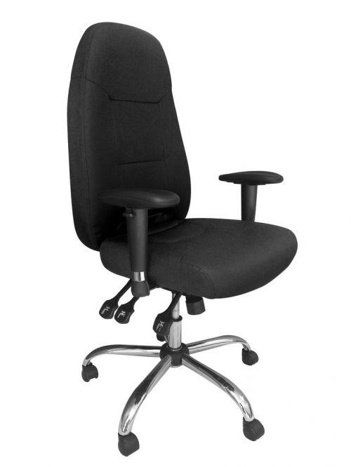 Babylon 24 Hour Operator Chair Fabric Black