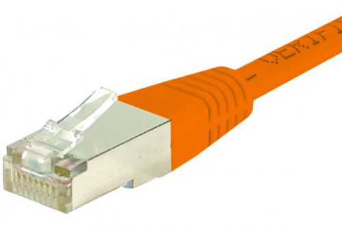 EXC Patchcord RJ45 Cat5E 1.5 Metre Orange Shielded Cable