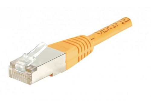 EXC Patch Cord RJ45 Cat.5E Orange Shielded Cable