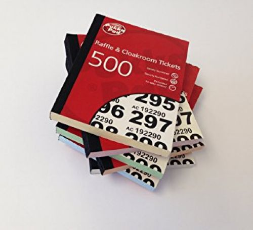 Value Cloakroom-Raffle Ticket Numbers 1-500 RAF500 - (PK6)