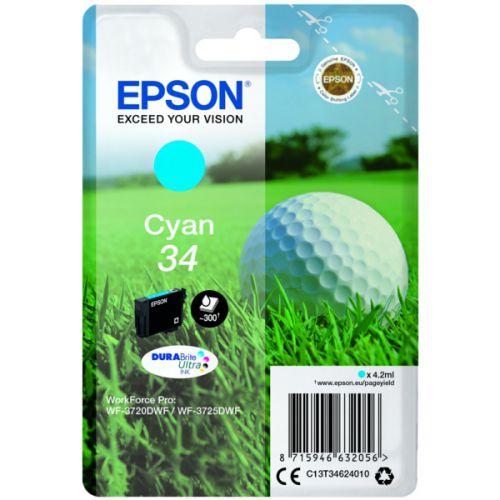 Epson C13T34624010 34 Cyan Ink 4ml