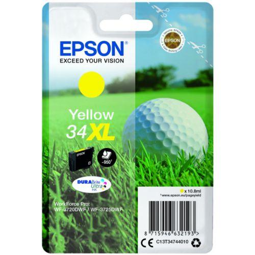 Epson C13T34744010 34XL Yellow Ink 11ml