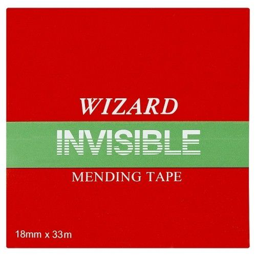 ValueX Wizard Clear Invisable Tape 19mm X 33m (Pack 8)