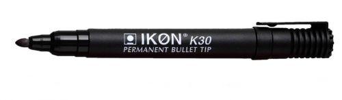 Langstane Ikon K30 Permanent Bullet Tip Marker Black K30-01 [Box 10]
