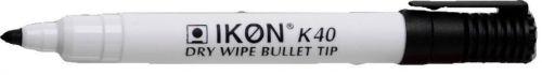 Langstane Dry Wipe Marker Bullet Tip Black 860201 [Box 10]
