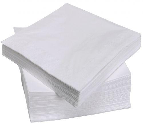 Value White Napkins 33cm 2ply (Pack 100)