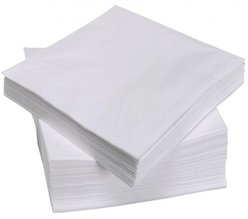 ValueX White Napkins 33cm 2ply (Pack 100)