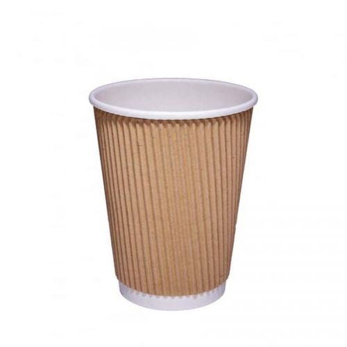 ValueX 12oz Kraft Ripple Hot Cup (Pack 25)