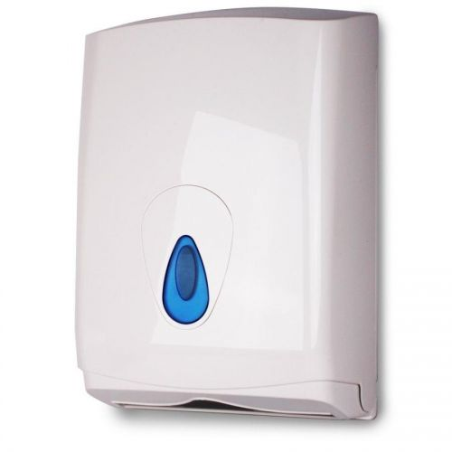 ValueX White Plastic Hand Towel Dispenser