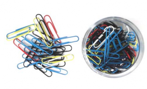 ValueX 51mm Giant Paperclips Assorted Colours (Pack 25)