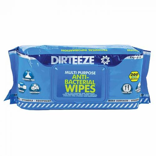 Dirteeze Antibacterial Wipes Flowpack (Pack 200)