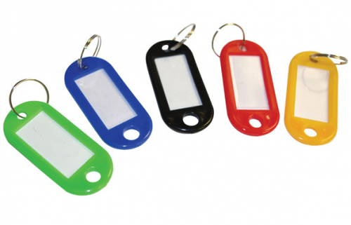 ValueX Sliding Key Tags Assorted Colours Large (Pack 50)