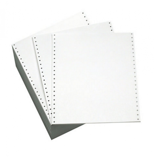 ValueX Listing Paper 11inx241mm 1 Part Plain Perforated 70gsm White (Pack 2000)