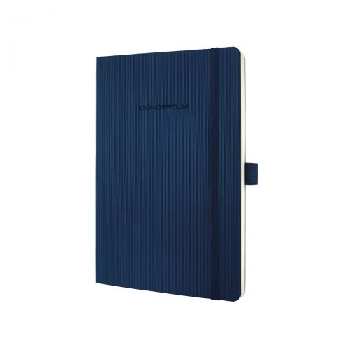Sigel CONCEPTUM A5 Casebound Soft Cover Notebook Ruled 194 Pages Blue