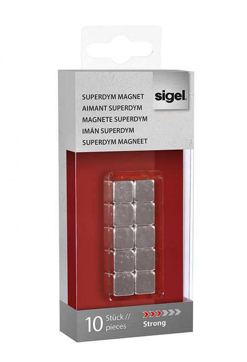 Sigel Magnets SuperDym C5 Strong Cube 10x10x10mm Silver PK10