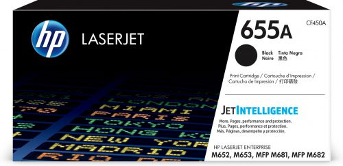 HP 655A Black Standard Capacity Toner 12.5K pages for HP Color LaserJet Enterprise M652/M653/MFP M681/MFP M682 - CF450A