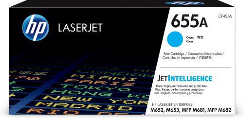 HP 655A Cyan Standard Capacity Toner Cartridge 10.5K pages for HP Color LaserJet Enterprise M652/M653/MFP M681/MFP M682 - CF451A