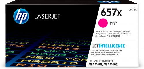 HP 657X Magenta High Yield Toner Cartridge 23K pages for HP Color LaserJet Enterprise MFP M681/MFP M682 - CF473X