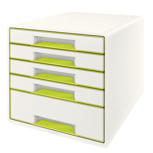 Leitz Wow Cube 5 Drawer Green