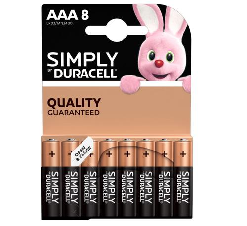 Duracell AAA SIMPLY Batteries PK8