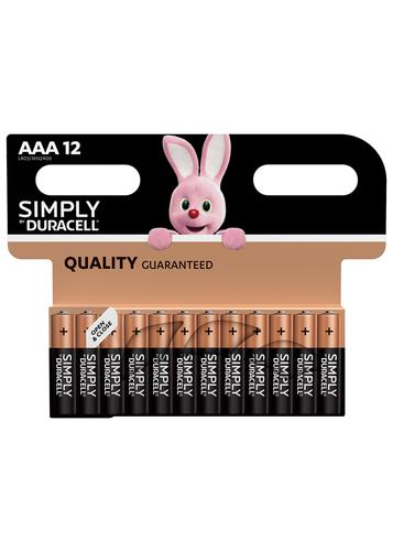 Duracell AAA SIMPLY Batteries PK12