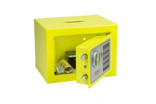 Phoenix cmpct Hme Safe Elctrnic Lock & dposit Slot Yellow