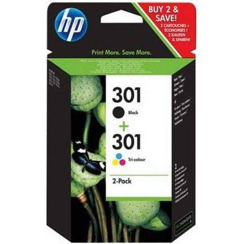 HP E5Y87EE 301 Black Ink 2x3ml Tricolour Ink 3ml Multipack