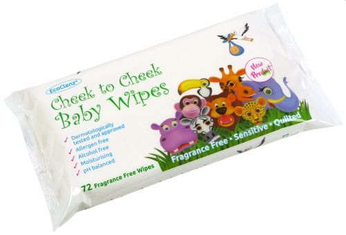 Cheek to Cheek Baby Wipes Fragrnce Free Flowpack of 72