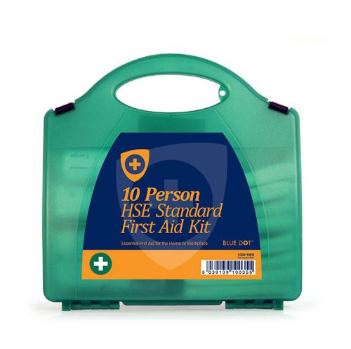 Blue Dot Eclipse HSE 10 Person First Aid Kit Green