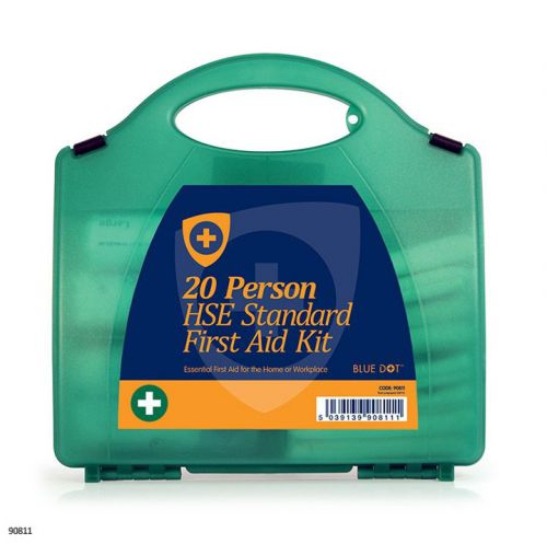 Blue Dot Eclipse HSE 20 Person First Aid Kit Green