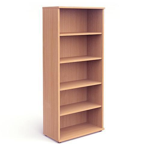 Trexus Office Very High Bookcase 800x400x2000mm 4 Shelves Beech Ref I000052