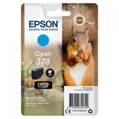 Epson C13T37824010 378 Cyan Ink 4ml
