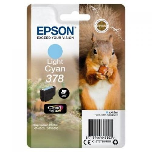 Epson C13T37854010 378 Light Cyan Ink 5ml