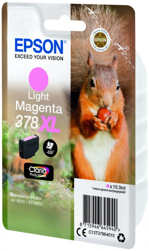 Epson C13T37964010 378XL Light Magenta Ink 10ml