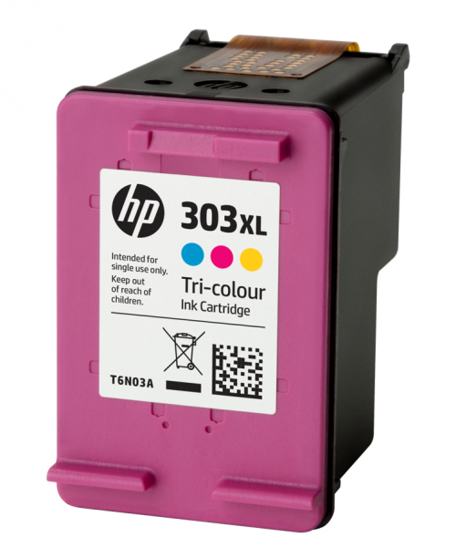 HP 303XL Tricolour High Yield Ink Cartridge 10ml for HP ENVY Photo 6230/7130/7830 series - T6N03AE