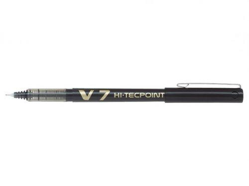 Pilot V7 Hi-Tecpoint Liquid Ink Rollerball Pen 0.7mm Tip 0.5mm Line Black (Pack 20)