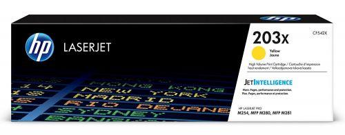 HP 203X Yellow Standard Capacity Toner Cartridge 2.5K pages - CF542X