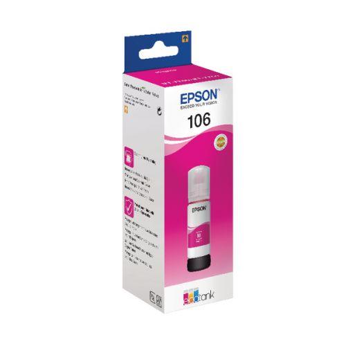 Epson 106 Magenta Ink Bottle 70ml - C13T00R340