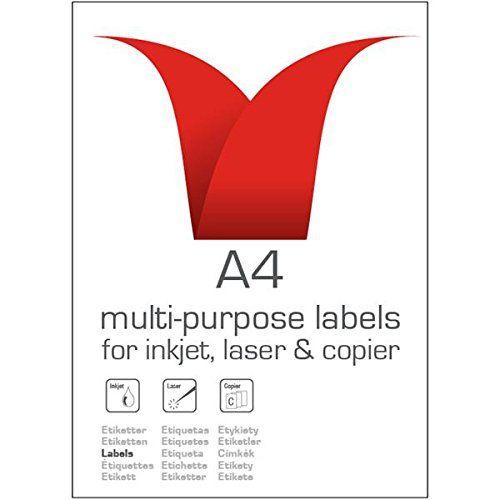 Stampiton A4 White Labels 8 Per Sheet 99.1x67.7 100 Sheets