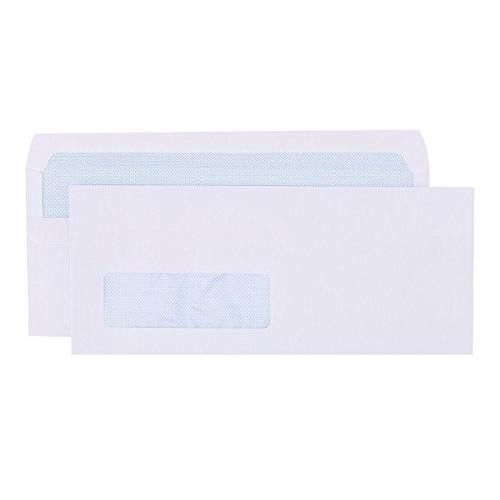 Blue Label Wallet Envelope DL Self Seal Window PK1000