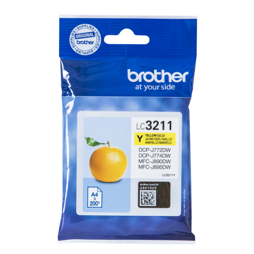 Brother LC3211Y Yellow Ink Cartridge Yield 200 Pages