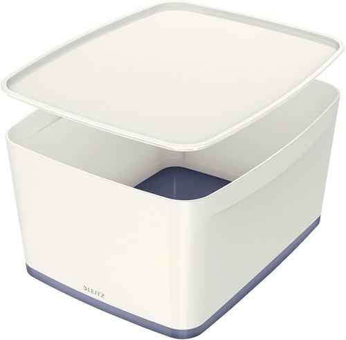 Leitz MyBox Large with Lid WOW White Grey