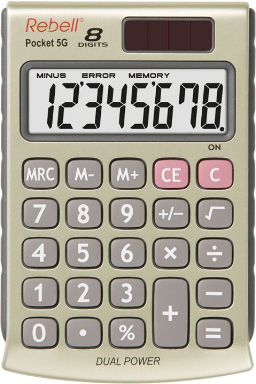 Rebell RE-POCKET 5G Pocket Calculator 8 Digit