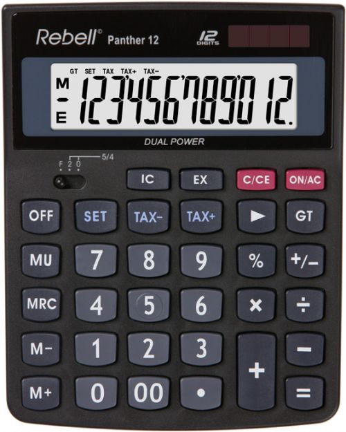 Rebell RE-PANTHER 12 BX Desktop Calculator 12 Digit