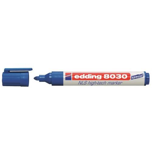 Edding 8030 NLS Permanent Marker Bullet Tip 1.5-3mm Blue (Pack 10)